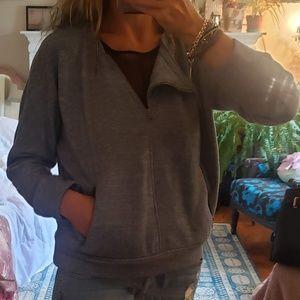 BCBG MAXAZRIA Tallulah Zipper-Detail Sweatshirt SM